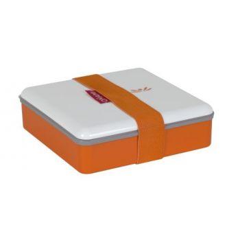 Omami orange lunchbox 15x15x4,6cm