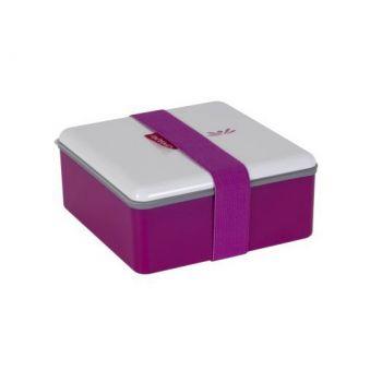Omami pink lunchbox 15x15x6,7cm