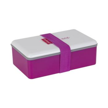 Omami pink color lunchbox 20x12x6,7cm