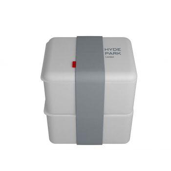 Omami white lunchbox 2 pieces 12x10x6,7cm