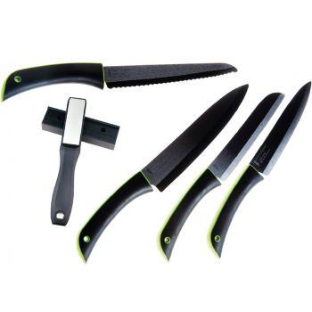 Point Virgule Promotion 4-Piece Ceramic Knife Set+Knife Sharpener