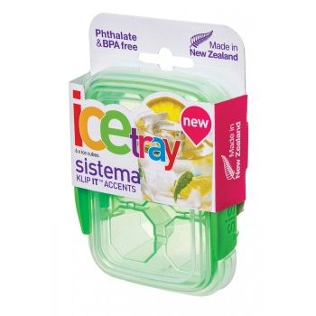 Sistema Accent Small ice Tray Green
