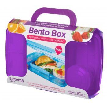 Sistema To Go Bento Box 1.76L with yogurt pot Purple