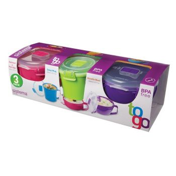 Sistema To Go Multi 3 pack - Breakfast & Soup Bowl