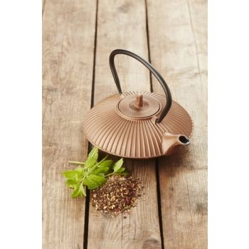 Point-Virgule teapot in cast iron with strainer copper 800 ml