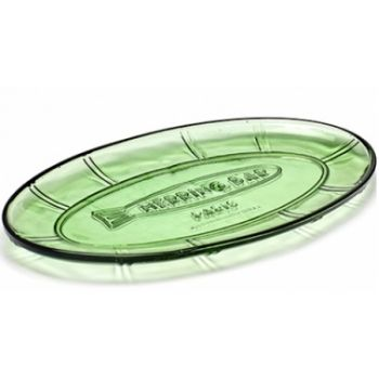 Paola Navone Small Flat Dish Oval B0816751 Transparant Green 31x17xH2cm