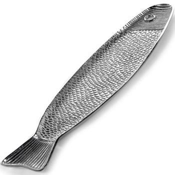 Paola Navone B9516010 Fish Dish Aluminum Fish&Fish 58x14,4xH1,8cm