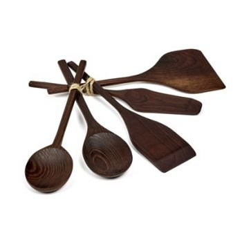 Pascale Naessens PURE B0218107 Kitchen utensils wood set of 5 pieces