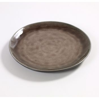 Pascale Naessens Pure round plate brown 20cm