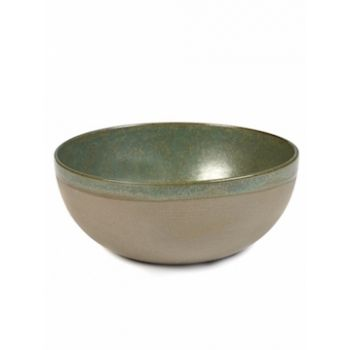Sergio Herman B5116213A Surface Bowl Large Camogreen D23.5cm