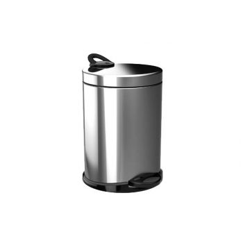 pedal bin silver-black 5l