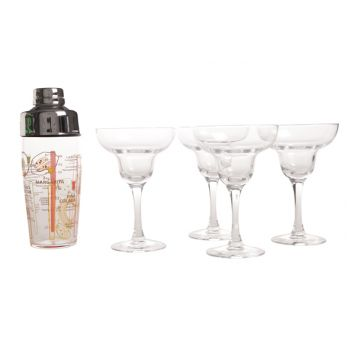 Luminarc Margarita Shaker with 4 Cocktailglasses 30cl