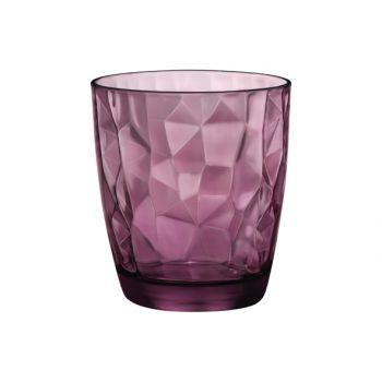 Bormioli Diamond goblet 30 cl purle set 3