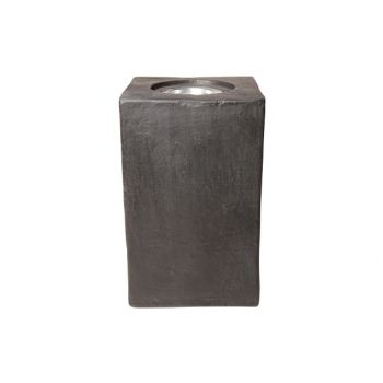Candle holder outdoor ficonstone 25x25x