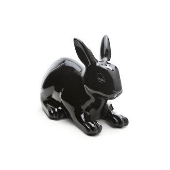 Rabbit black outdoor 28.5x16.5xh21.5cm