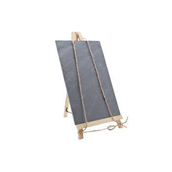 Slate memo board incl bamboo stand 20x