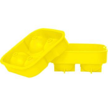Ice cube tray balls yellow 4pcs d4.5cm