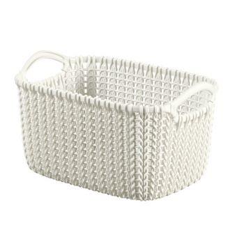 Curver Knit Basket Oasis White 3L