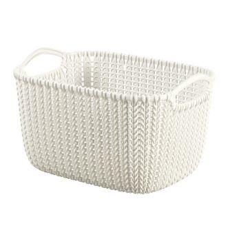 Curver Knit Basket Oasis White 8L