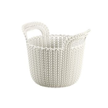 Curver Knit Basket Oasis White 3L