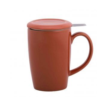 Gift 6320 Mug with tea infuser & lid, Red