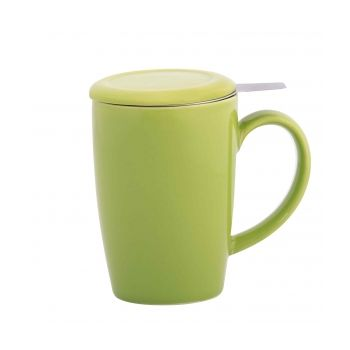 Gift 6322 Mug Tea infuser with lid, Green