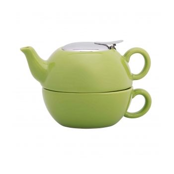 Gift 6342 Tea for one with infuser, Green