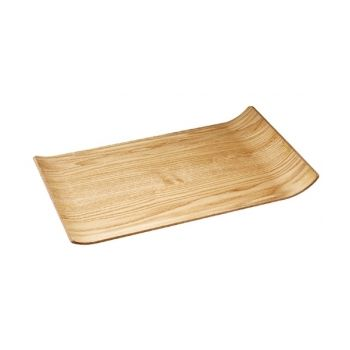 Living 1148 Embossed Tray Willow Wood