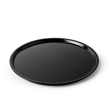 Dalebrook ronde melamine taartschotel zwart 30cm