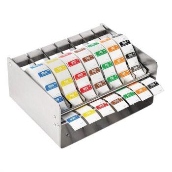 Vogue kleurcode RVS stickerdispenser + stickers