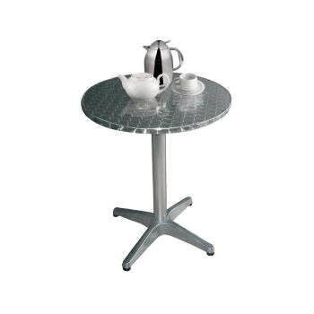 Bolero ronde RVS tafel 80cm