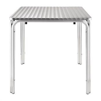 Bolero vierkante RVS tafel 70cm